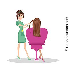 woman in hairdressing salon