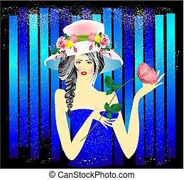 woman in hat,