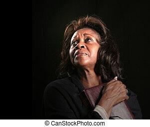 Woman in Heavenly Light