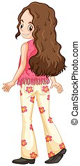 Woman in hippie clothes