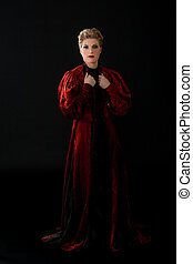 Woman in historical costume - Young beautiful blonde woman ...