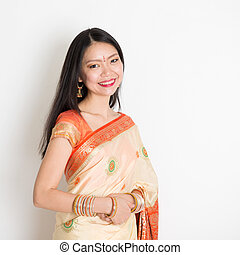 Woman in Indian sari