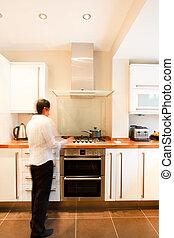 Woman in kitchen