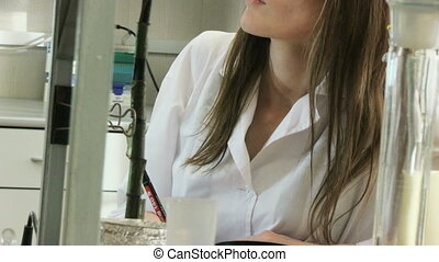 woman in laboratory