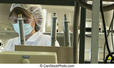 woman in laboratory - Woman working in modern laboratory