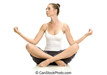 woman in lotus pose