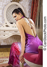 woman in luxury room