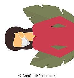 Woman in mask. Novel Coronavirus Outbreak. Virus Covid 19-NCP.