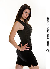 Woman in mini skirt - Attractive Albanian brunette woman...