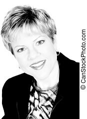 Woman in Monochrome - Portrait of a successful business ...