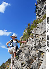 woman in mountain