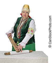 Woman in national historical Russian costume