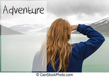 Woman In Norway, Text Adventure, Beautiful Landscape Norway