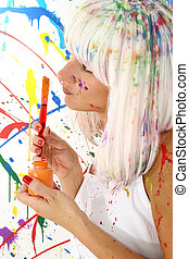 Woman in Paint