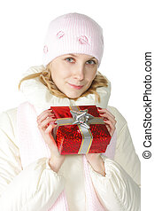 Woman in pink cap