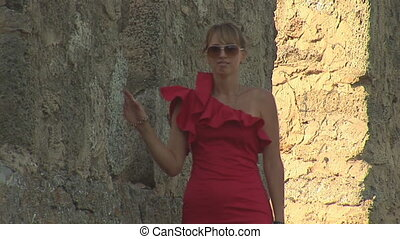 woman in red a