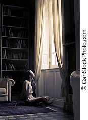 Woman in room