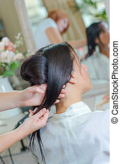 woman in salon