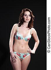 woman in sexy underwear