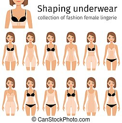 Woman in shaping underwear - Woman in shaping lingerie or...