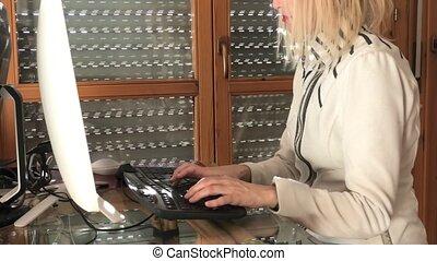 Woman in smart working - Businesswoman in smart working....