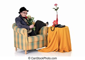 Woman in sofa at home