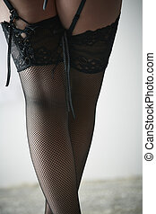 Woman in stockings - Beautiful, voluptuous and sexy...