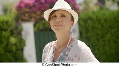 Woman in Summer Fashion Looking at the Camera
