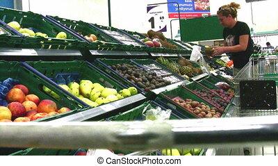 woman in supermarket Full HD 1080p