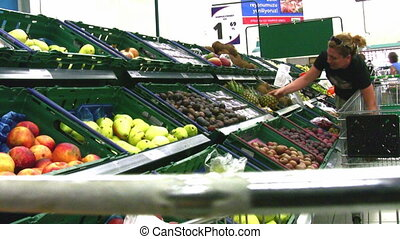 woman in supermarket Full HD 1080p