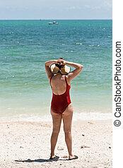 Woman in the beach, Key West