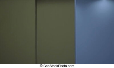 Woman in the elevator - Business woman entering the elevator...