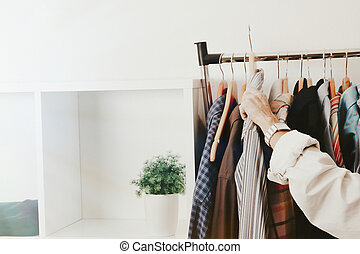 woman in the fashion store, retail