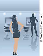 woman in the hairdressing salon