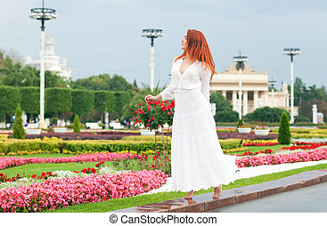 Woman in the park