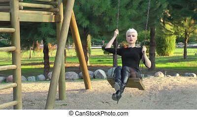 Woman in the Playground