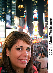 Woman In Times Square NYC