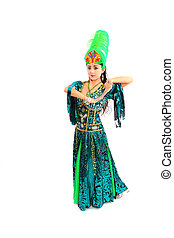 woman in traditional dress - woman dancing traditional dress