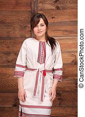 Woman in traditional Ukrainian costume