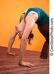 Woman In Upward Bow