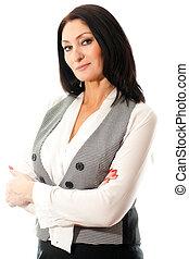 woman in vest