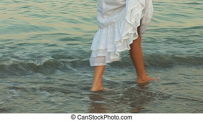 woman in waves a