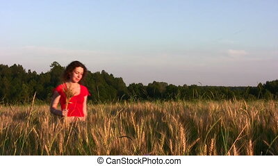 woman in wheat field