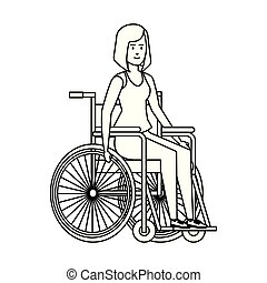 woman in wheelchair character