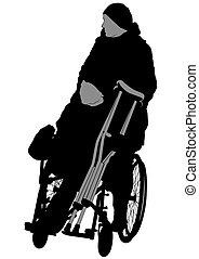 Woman in wheelchair one