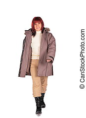 Woman in winter coat 2