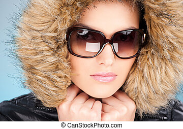 woman in winter outfit - pretty woman wearing winter outfit...