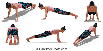 plank pose illustrations and clip art 598 plank pose