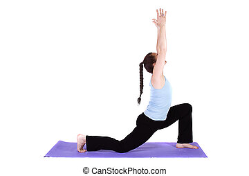 woman practicing yoga asana fit woman doing yoga exercise