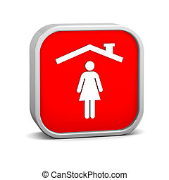 Woman insurance sign